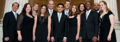 A cappella holiday music at the Willard Hotel